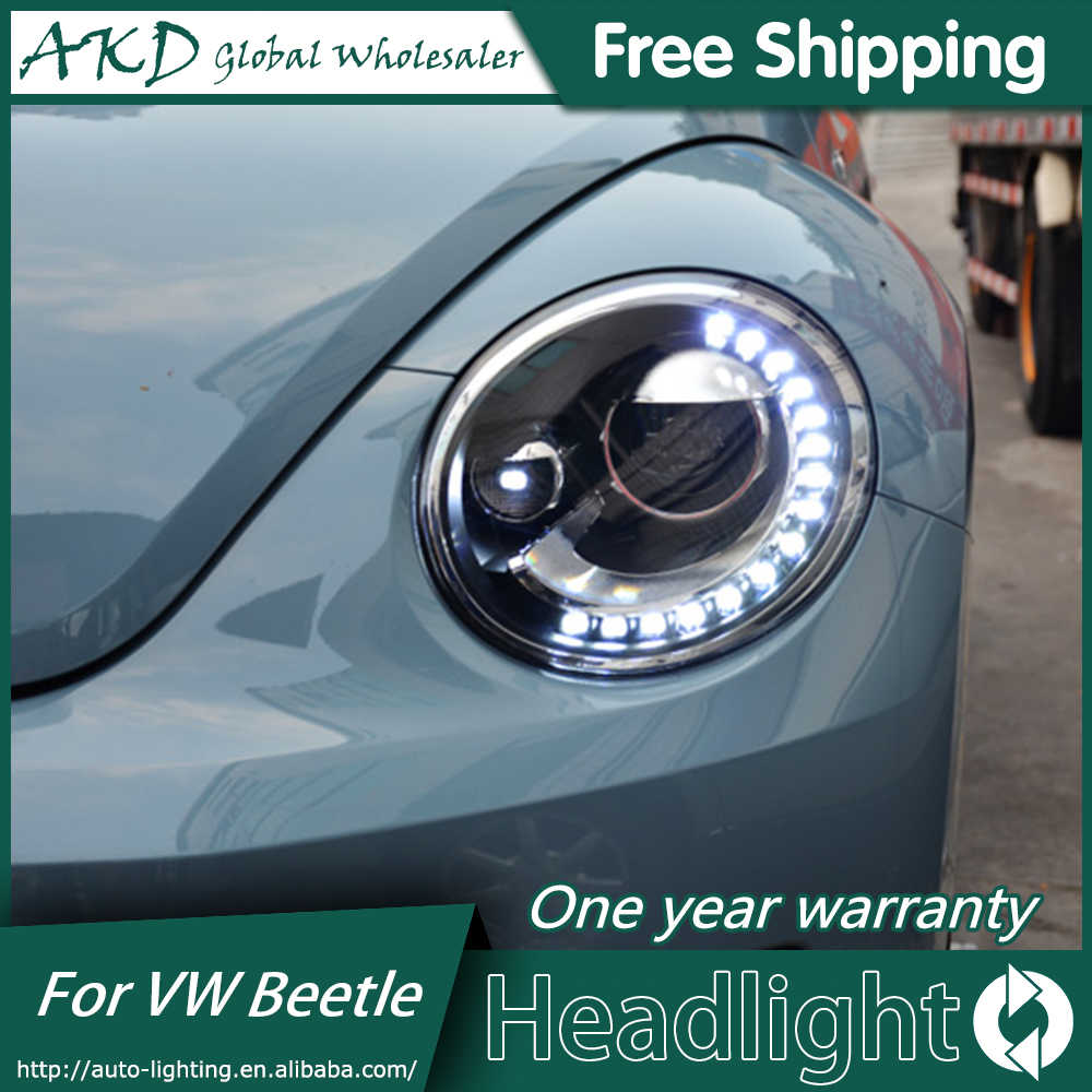 medium resolution of akd car styling headlight assembly for 2013 2018 vw beetle headlights bi xenon led headlight