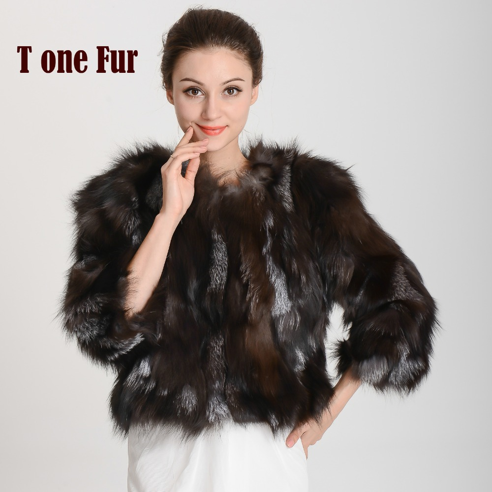 New Arrival Real Fox Fur Coat Genuine Fox Fur Jacket Natural Fur Women Winter Fashion Brand Coat Free Shipping KHP316