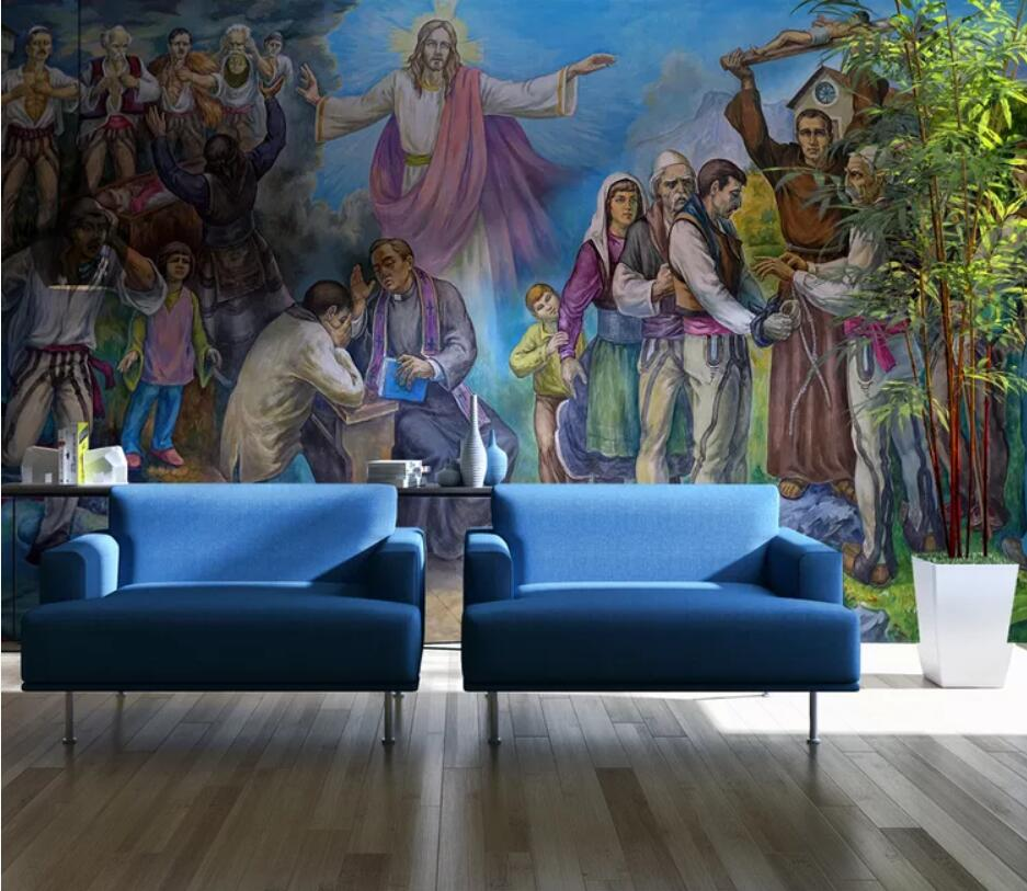 Jesus Christ Oil Painting Background Wall Decoration Wallpaper Mural