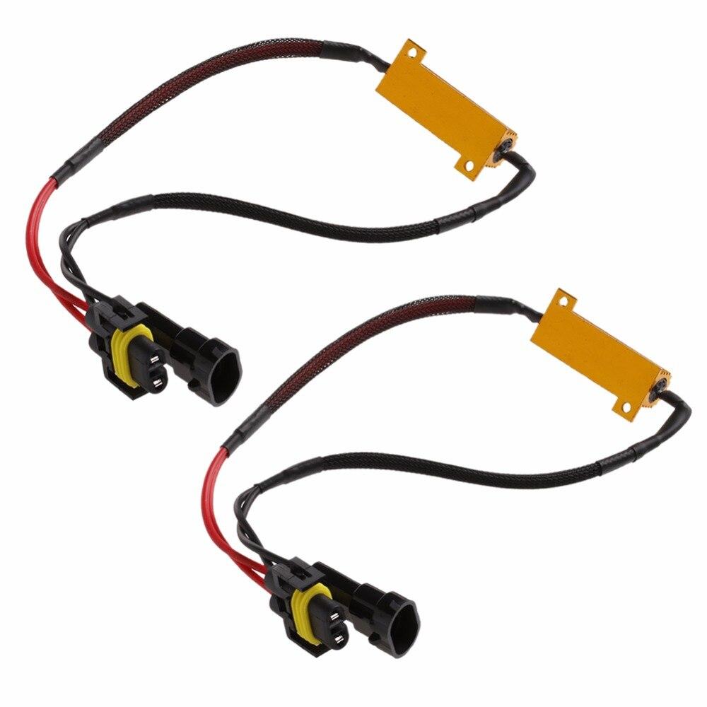 HNGCHOIGE 2 pièces H8 H11 lumière LED résistance de charge Canbus décodeurs de scintillement