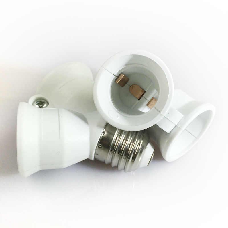 1 шт. противопожарные E27 до 2 E27 держатель лампы конвертер преобразование гнезда патрон для лампочки Тип 2E27 Y Форма адаптер для светодиодной лампы