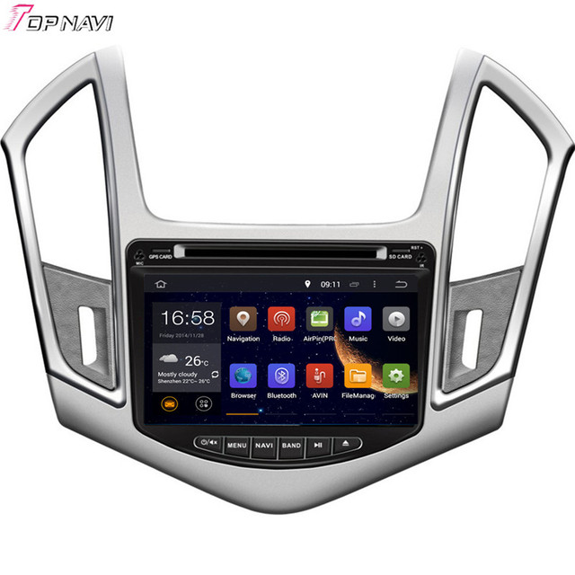 8'' Quad Core Android 5.1 Car Multimedia GPS For CRUZE 2013- For CHEVROLET With Radio Stereo Audio Mirror Link Free Shipping