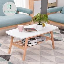 Луи моды Кофе таблицы небольшой квартире Nordic Современные Простые Гостиная японский белый твердой древесины