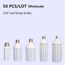 3 years warranty 50 PCS 5730 lamp beads 10W 15W 20W 30W 40W 60W 80W Light Bulb B22 E27 E14 LED Lamp IP30 12V Solar