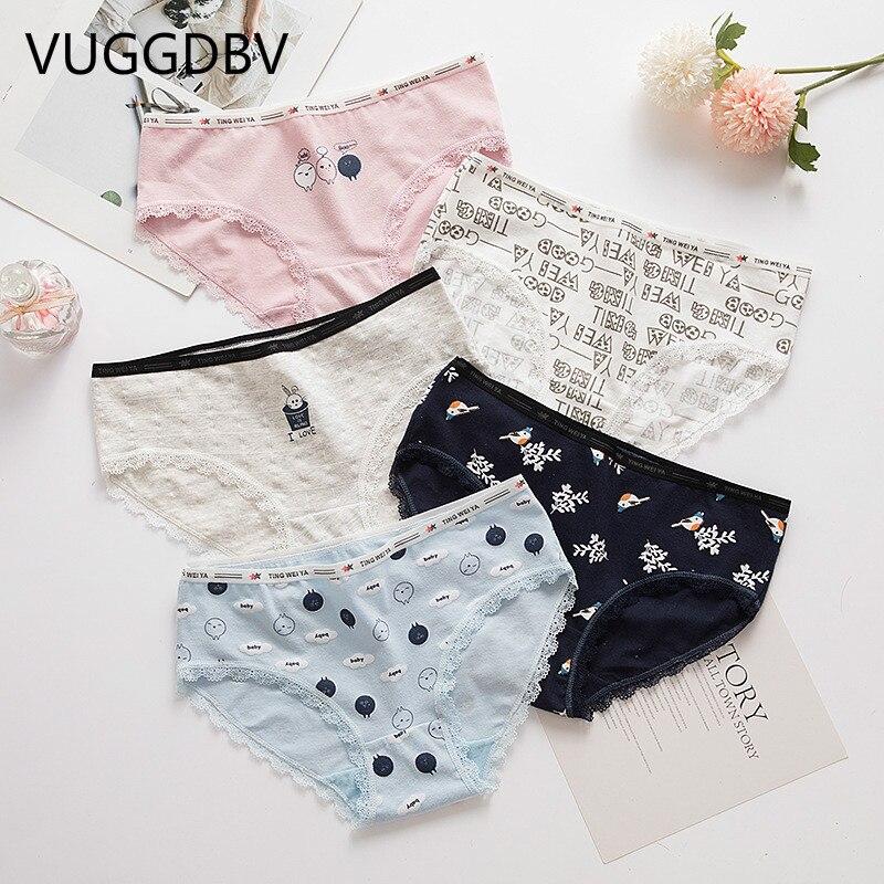 Panties Women Cotton Women Panties Cotton Underwear Women Briefs Lingerie Thongs Seamless Underpants Women's Intimates