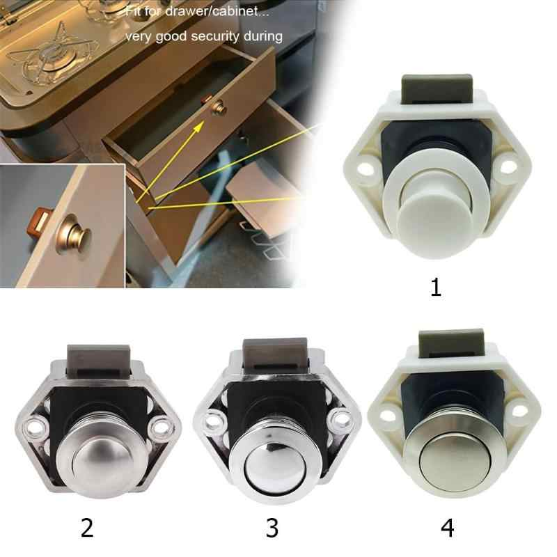Drawer Latch Button Locks for Furniture Hardware Camper Car