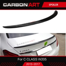W205 Carbon Fiber Rear Spoiler Trunk Wing Bootlid Lip For Mercedes New C class Coupe 2015 2016 2017 C180 C200 C250