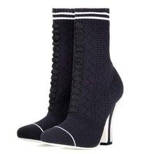 toe ฤดูใบไม้ร่วงฤดูหนาวรอบ รองเท้าผ้าขนสัตว์สำหรับผู้หญิงรองเท้าส้นสูง 2019