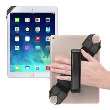 Universal Tablet Hand Strap Holder For All 9.7 Pad ~10.1 Tablets 360 Degrees Swivel PU Leather Handle Grip with Elastic Belt
