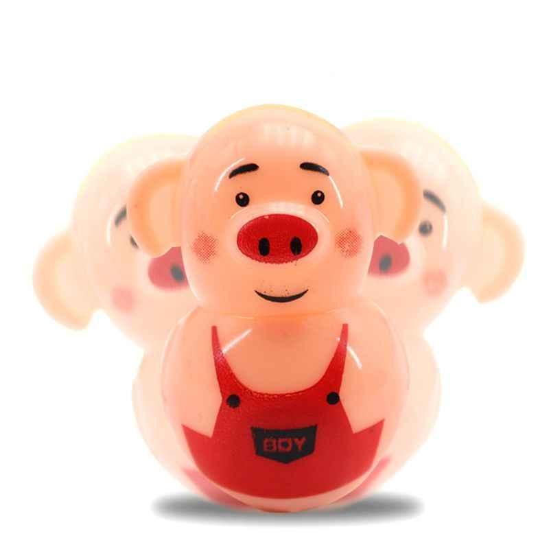 Venda quente 2 pçs bonito porco tumbler brinquedo festa saco de enchimento favores presente crianças educação brinquedo gadget