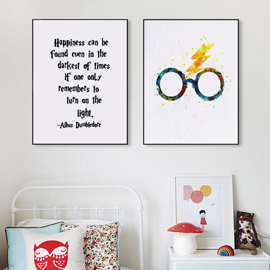Harry Potter Canvas Painting Print And Poster Wall Pictures For Child Baby Room Decor in Painting Calligraphy from Home Garden