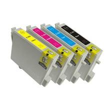 vilaxh T0551 Ink Cartridge For Epson T0552 T0553 T0554 Stylus Photo R240 R245 RX420 RX425 RX520 printer