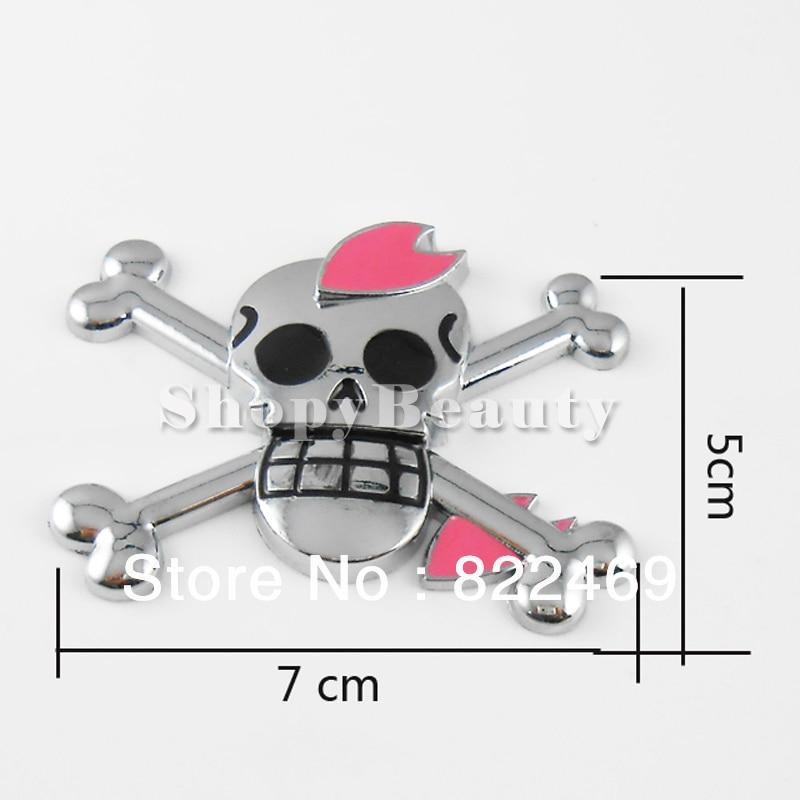 3D DIY Car Decal Skull Pirate Love Sticker Emblem Badge Logo