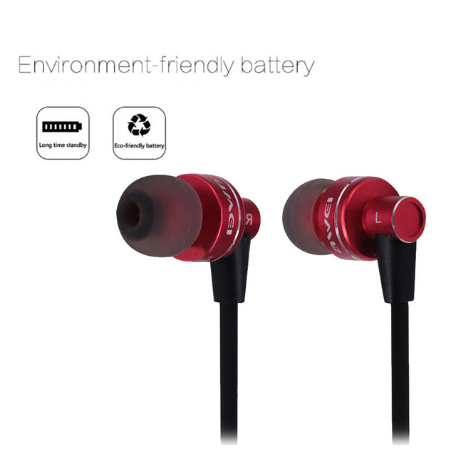 Awei a990bl bluetooth 4.0 música deportes wireless bluetooth headset auriculares deportes correr auriculares manos libres con micrófono