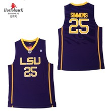 c7b9c4db64e Men s LSU Tigers  25 Ben Simmons Jersey Yellow Purple White College Ben  Simmons Stitched Basketball