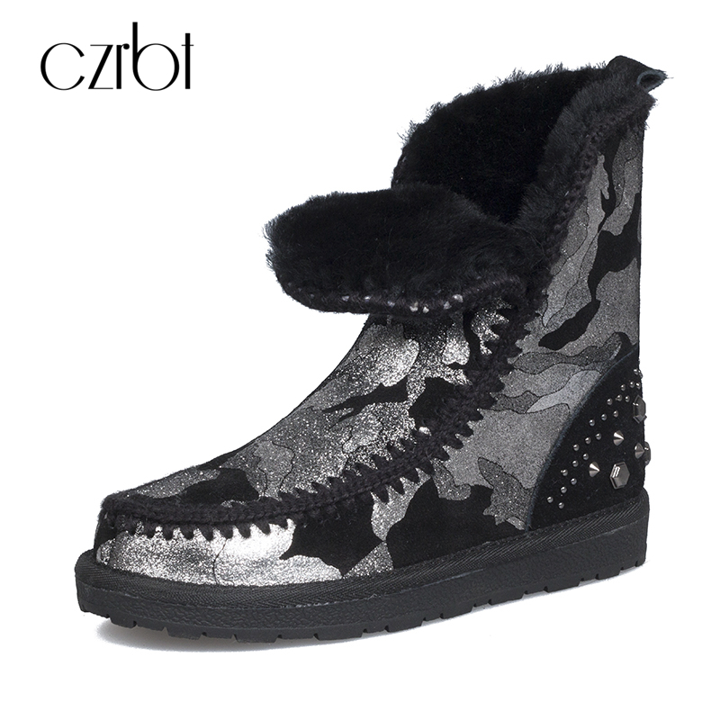 CZRBT New Arrival Snow Boots High Quality Print Flower Women Boots Warm Wool Ankle Boots Winter Shoes for Women Mujer Botas 2016 new arrival ankle boots for women fashion winter shoes warm plush snow boots shoe bowtie women boots polka dot botas mujer