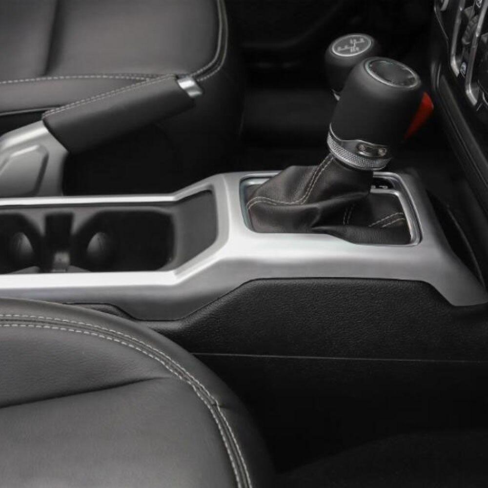 Console gear penale della tazza della copertura holder storage box adesivo decorativo trim Per jeep wrangler Accessori Interni JL - 5