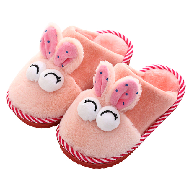 Children\'s Slippers Kids Indoor Soft Home Kids Shoes Winter ...