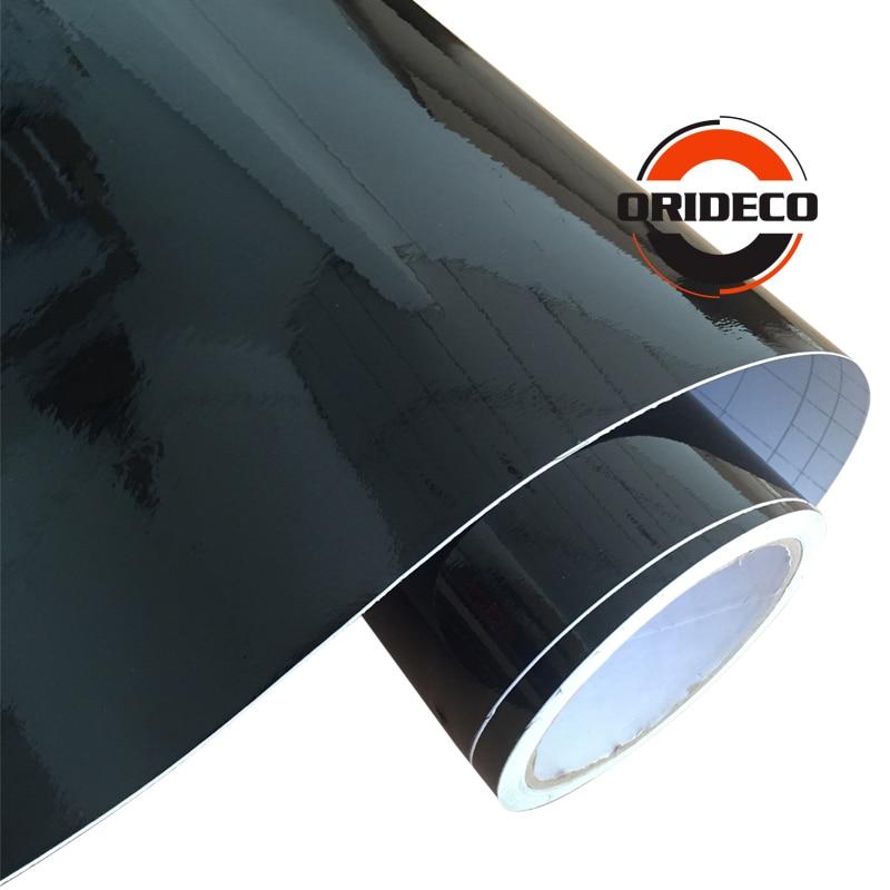 1.52*5/15/20/30 M haute brillance noir vinyle Wrap voiture Wrap avec bulle d'air brillant noir vinyle Ultra brillant Wrap Film - 2