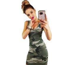 bb1e024502034 Bigsweety Sexy Sleeveless Camouflage Summer Tank Dress Women Bodycon  Dresses Mini