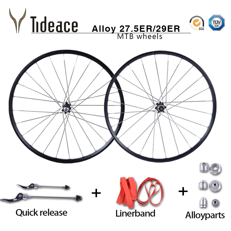 29er 27.5er MTB Mountain Bike Wheelsets 4 Bearing 24Holes Cycling Wheels Aluminum mtb alloy wheel Sets disc brake 142mm/135mm ultralight bearing hubs mtb mountain bicycle hubs 32 holes 4 bearing quick release lever mountain bike disc brake parts 4colors