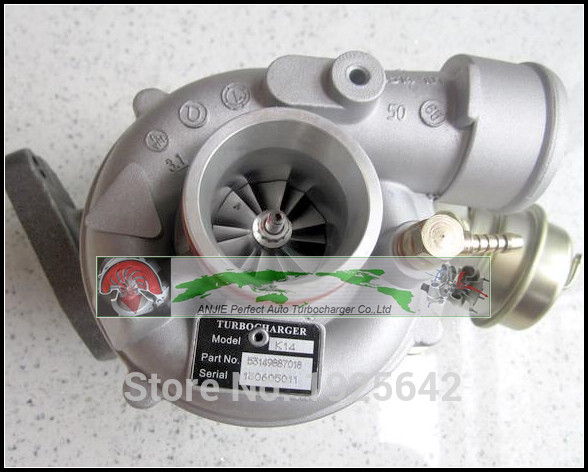 все цены на Turbo For Volkswagen VW T4 Transporter 95- AJT AYY ACV AUF AYC 2.5L TDI K14 7018 53149887018 53149707018 074145701A Turbocharger онлайн