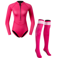 One piece Diving Suit Wetsuit Surfing Swimming with long socks