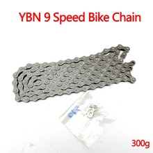 цена на YBN Bike Chain  MTB Road Bicycle 9 Speed Chains Buckle 116 Links For SRAM Shimano 9 Speed Groupset