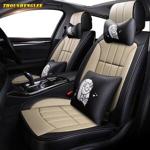 Image 2 - Neue luxus Leder auto sitz abdeckung für mitsubishi pajero 4 sport outlander 3 xl lancer 9 10 grandis ASX colt l200 auto zubehör