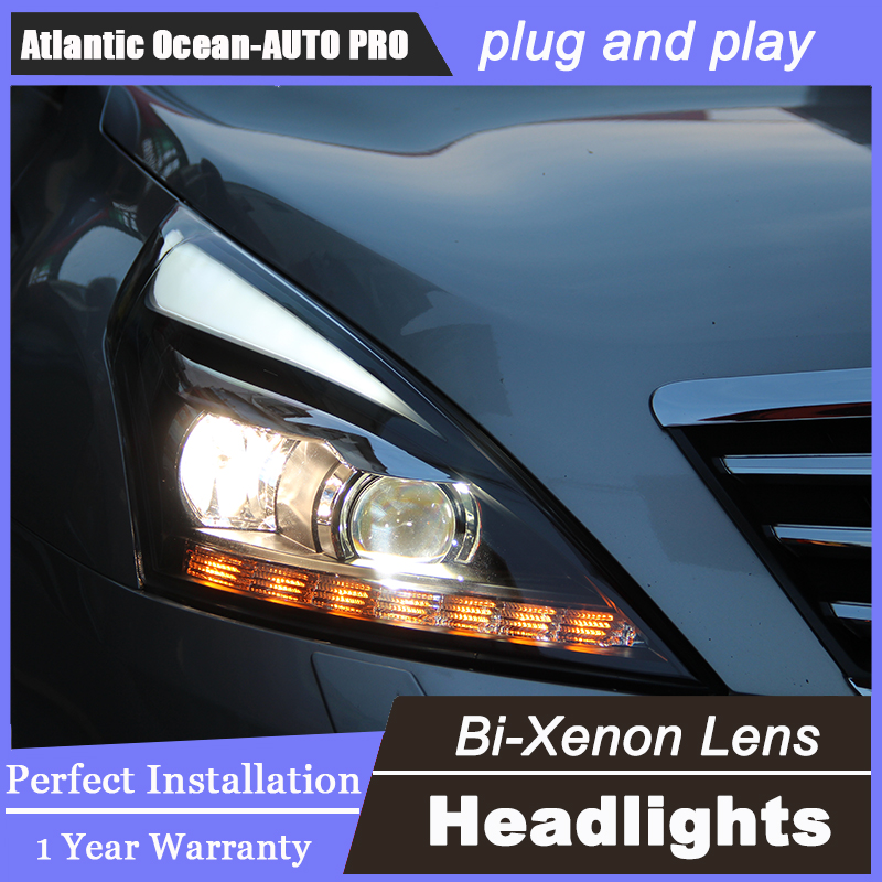 Auto.Pro Car Styling for Nissan Teana LED Headlight 2012 Altima Headlight DRL Lens Double Beam HID KIT Xenon bi xenon lens hireno headlamp for volkswagen tiguan 2017 headlight headlight assembly led drl angel lens double beam hid xenon 2pcs