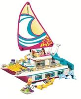 BELA Friends series 41317 614Pcs Sunshine yacht toys For Children Gift 10760 Building Blocks Set Compatible Education girl