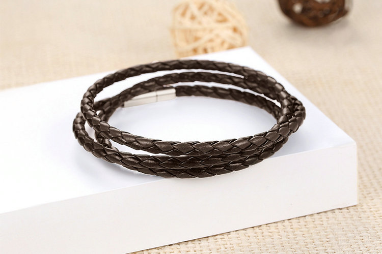 Colorful Leather Wrap Bracelet