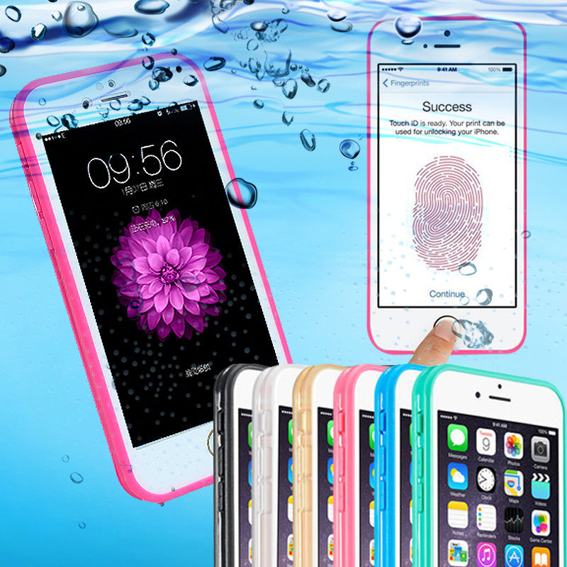 Luxury Fashion Waterproof Case Cover For iphone5 5s SE 6 6s 7 Plus iphone 7 phone Case shockproof Full Sealed Silicone Swim Case