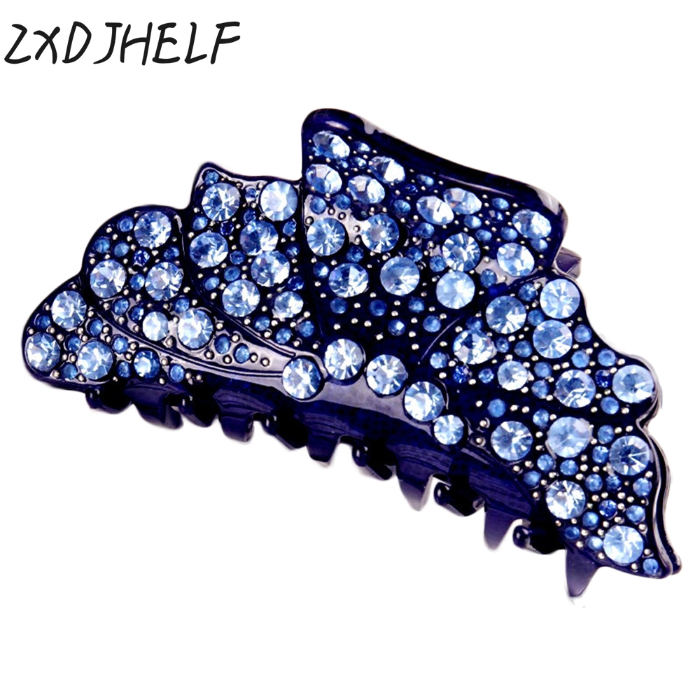 ZXDJHELF Brand 6 Candy Colors Hair Claw Fashion Acrylic Barrettes Headwear Accessories For Women Simple Crab Clamp F136