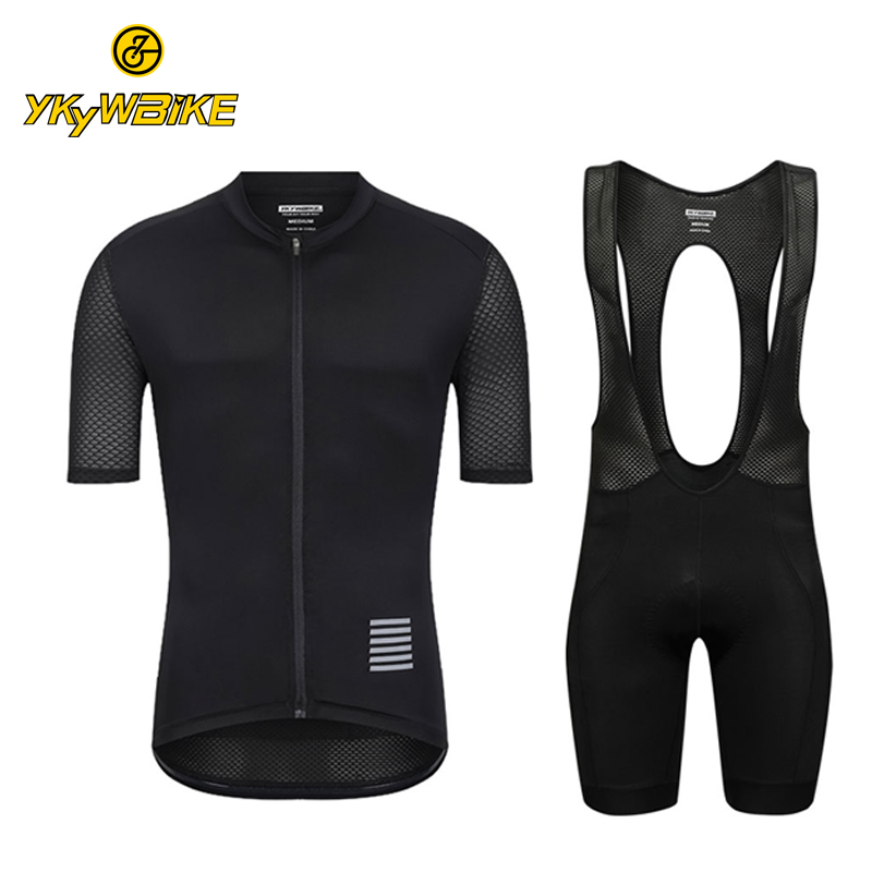 цена на YKYWBIKE 2018 Pro Cycling Jersey Set Mountain Bike Clothing MTB Bicycle Clothes Wear Maillot Ropa Ciclismo Men Cycling Bib Set