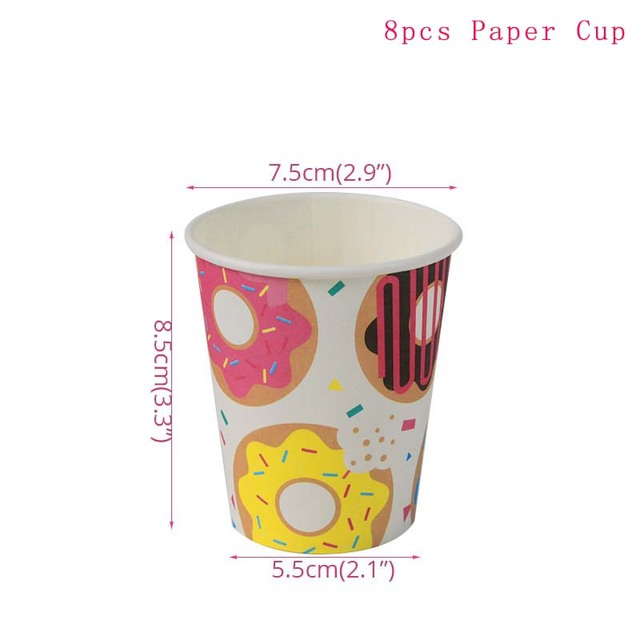 8pcs Paper Cup Monkey 1st birthday decorations 5c64f9ae5e23e