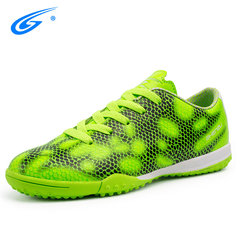 Professional Men Kids Indoor Football Shoes Breathable Soft Turf (TF) Training Soccer Cleats
