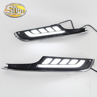 SNCN LED Daytime Running Light For Volkswagen Golf 7 MK7 2015 2016 Car Accessories Waterproof ABS