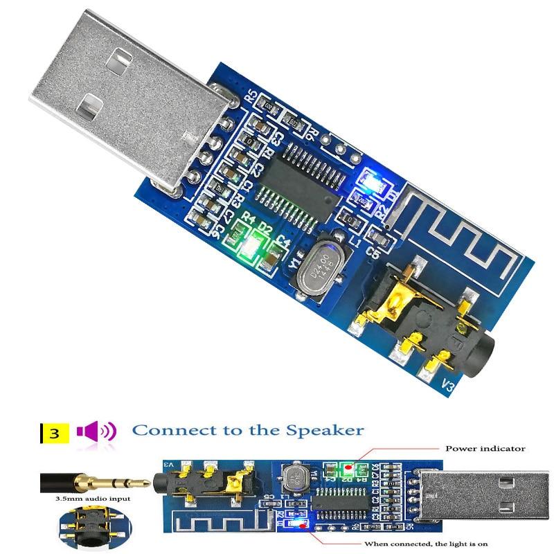 USB 5V Bluetooth 4.0 Audio Receiver Module Long Distance Wireless Board LE