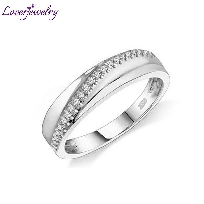 Unisex Ring Diamanten Ring Voor Vrouwen Mannen Fijne Sieraden Vintage Natuurlijke Diamant Solid 10k Yellow Gold Engagement Wedding Band ring-in Ringen van Sieraden & accessoires op  Groep 1