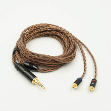 LZ MMCX Eight Core 6N Single Crystal Copper Audiophile Earphones IEMs Improve Cable Balanced Model 2.5mm