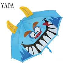 YADA Cute Cartoon Children Umbrella For Boys Girls Animation Creative Long-handled 3D Ear Modeling Kid Long Handl YS309