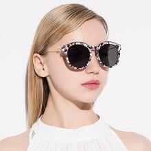 Redondo de la manera gafas de Sol Mujeres Primera Marca de Lujo Gafas de Sol de Las Señoras de Gran Tamaño Espejo Mujer Shades Oculos gafas de sol UV400