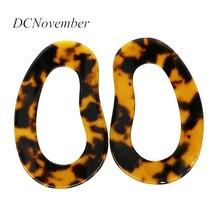 Geometric Tortoiseshell Stud Earrings  Acetic Acid Women Exaggerated Personality Temperament Jewelry