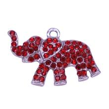 Двойной нос Красный Кристалл инкрустированные металла Слон Шарм греческие буквы Дельта Сигма Тета Сорорити Общество Jewelry DST Label аксессуар