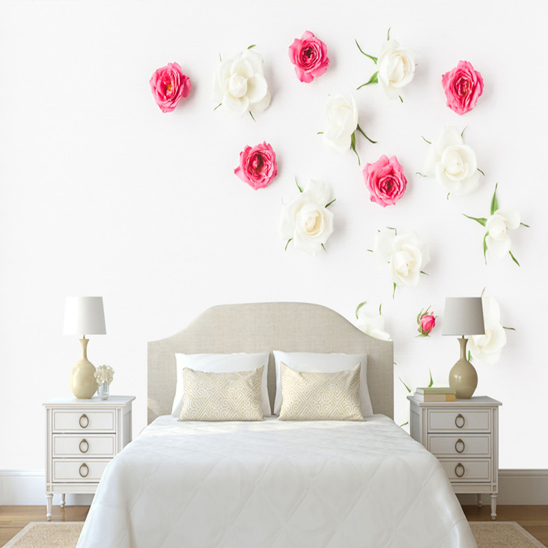 Custom Modern 3D Photo Wallpaper Minimalist 3D Wall Murals Nordic Three-dimensional Rose Wallpaper for Living Room Bedroom Mural stone vine leaves mountain large mural 3d wallpaper tv backdrop living room bedroom wall painting three dimensional 3d wallpaper