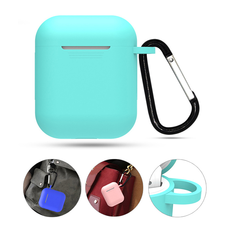 Silicone Airpods-Case Hanging-Buckle Anti-Lost-Protector Portable With Pouch 55--47--27mm