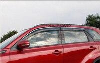 Car Body Styling Acrylic Window Glass Wind Visor Rain/Sun Guard Vent Fit For Suzuki Vitara Fourth Generation 2015 2016 2017