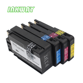 INK WAY 4 Pack High Yield Compatible Ink Cartridge Replacement  for HP711 printer suitable for designjet T120/T520 eprinter winnerjet 1000ml per bottle 8 colors pigment ink for hp designjet z6200 z6600 z6800 printer replacement high quality ink