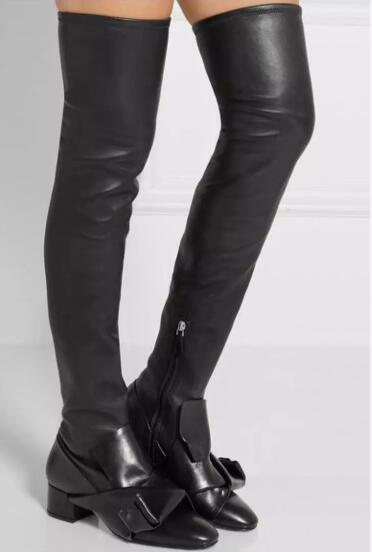Black Leather Leggings With Boots
